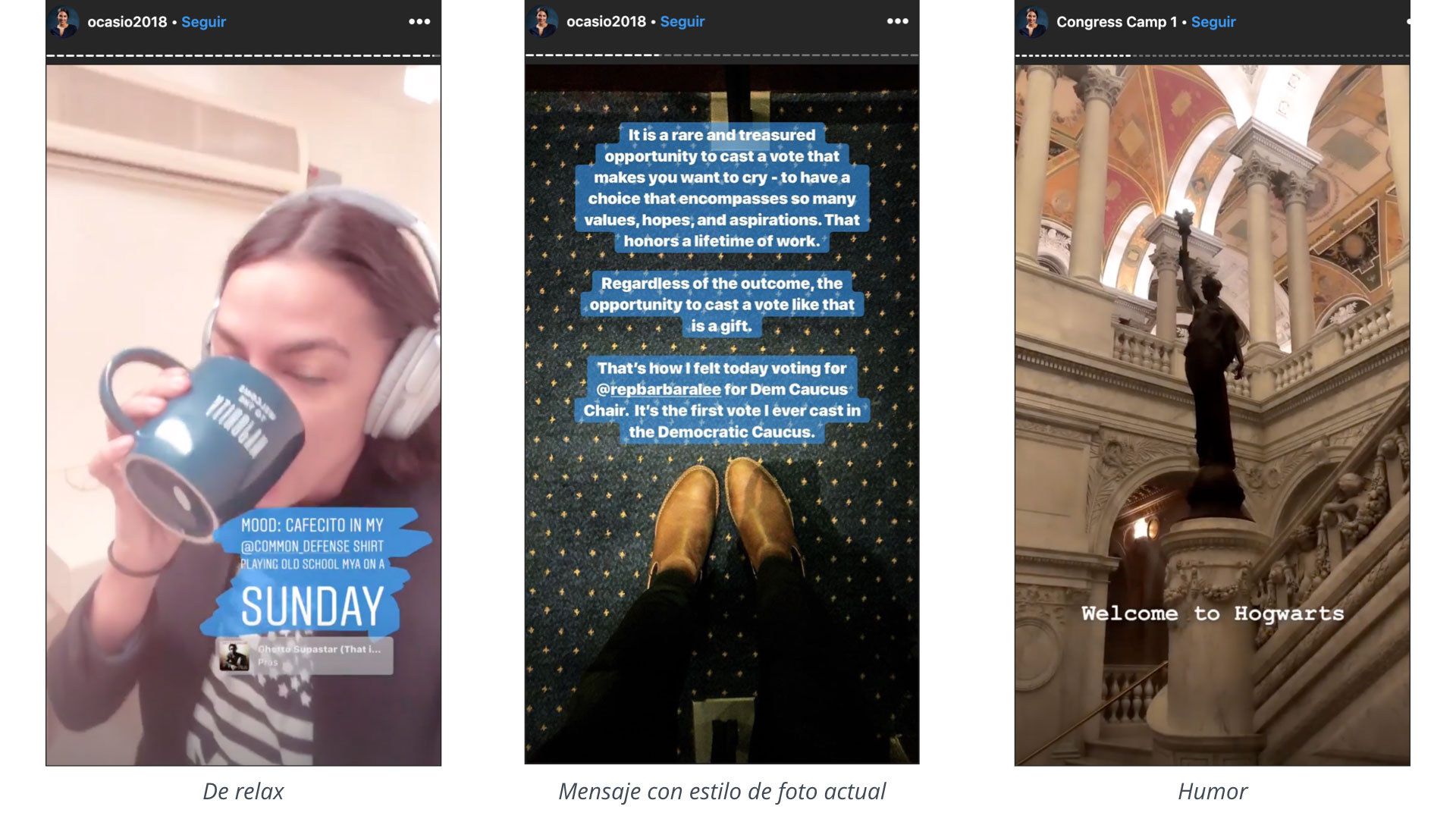 ejemplo instagram stories en lideres politicos