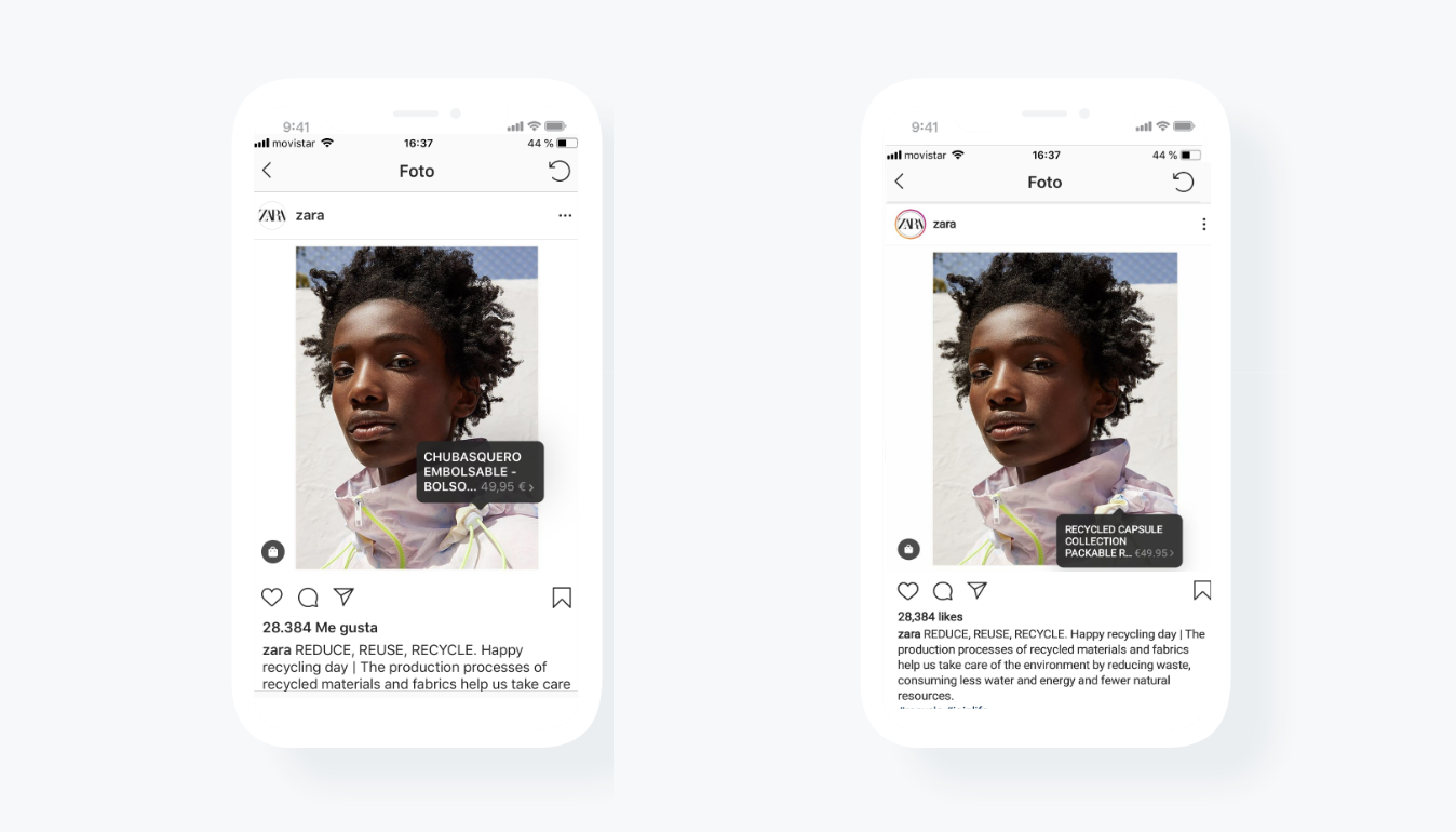 Instagram Shopping Localized