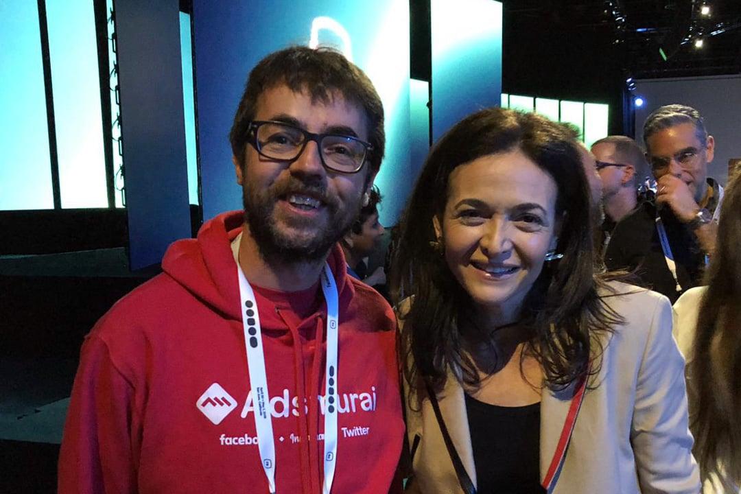 F82019 Sheryl Sandberg COO Facebook Otto Wust COO Adsmurai