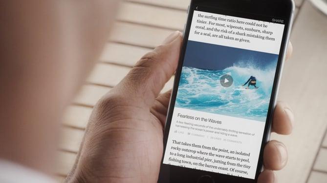 Smartphone in social media