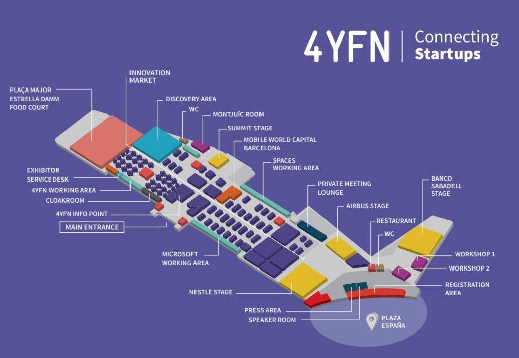 4YFN Floor Plan Adsmurai con Banco Sabadell