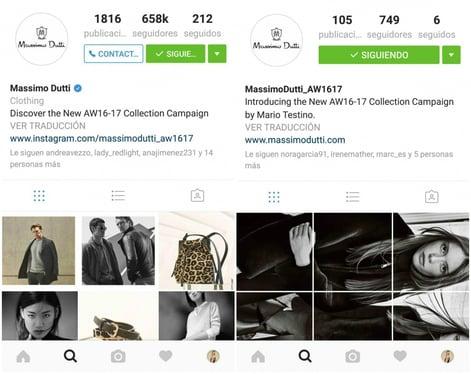Massimo Dutti nueva coleccion en instagram