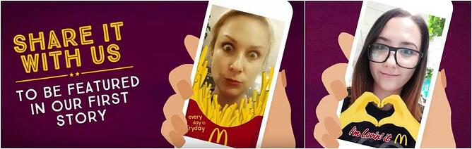 campaña mcdonalds en snapchat