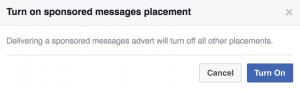 Facebook Messenger Patrocinado