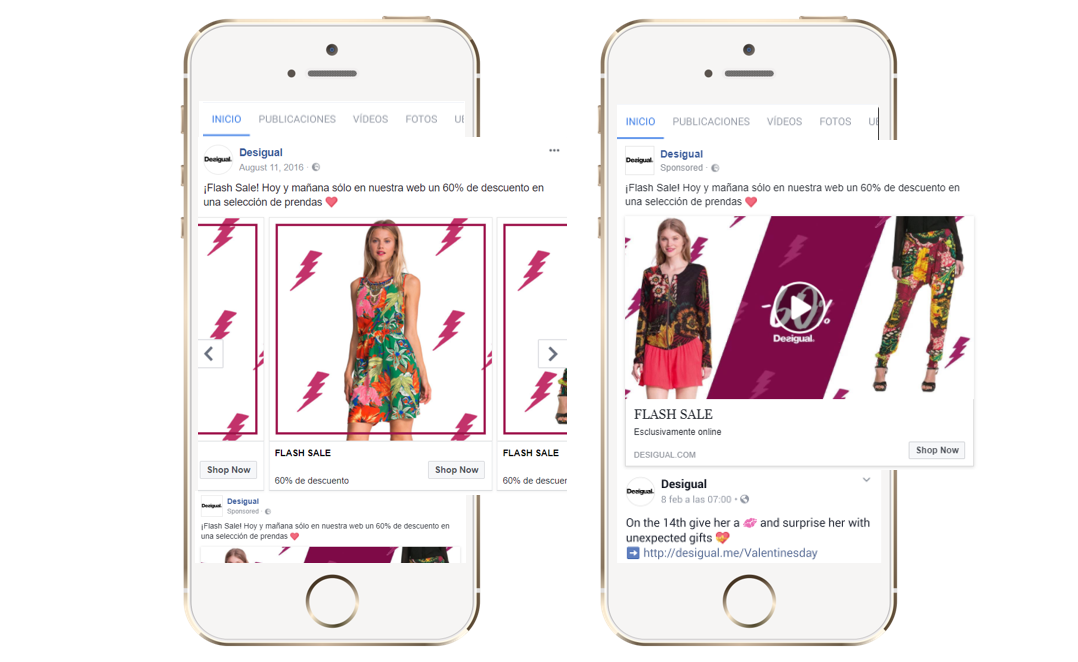 Desigual Flash Offer. Carousel and Video