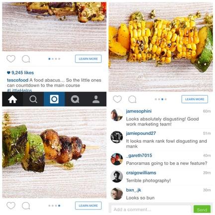 instagram advertising tesco