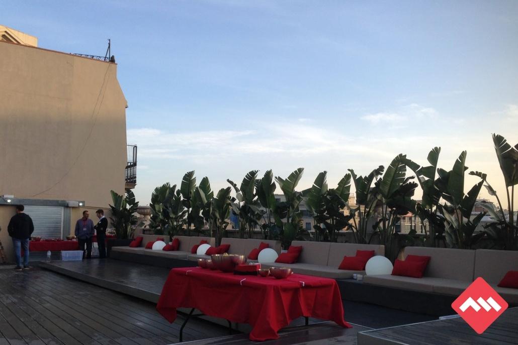 Terraza para eventos y Networking en Adsmurai Barcelona