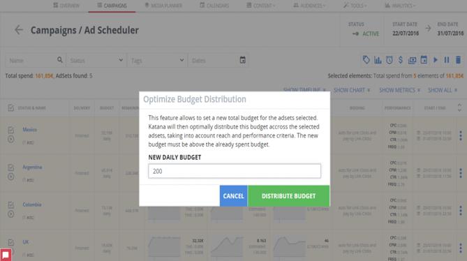 Redistribución del presupuesto automatizado - Paso 4