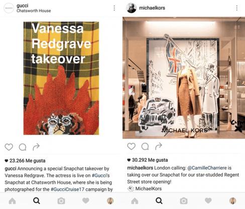campañas gucci y michael kors instagram