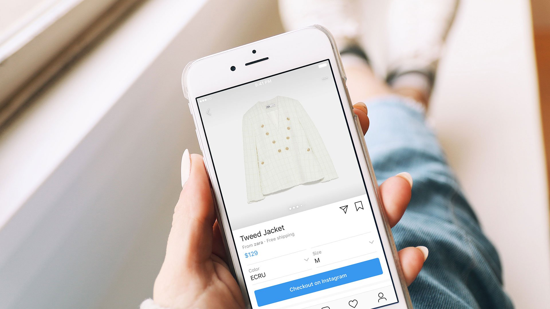 Instagram Shopping example